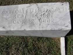 Rebecca Jane <i>Gates</i> Saunders