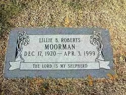 Lillie B. <i>Roberts</i> Moorman