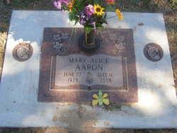 Mary Alice <i>May</i> Aaron