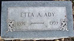 Etta Anna <i>Garner</i> Ady