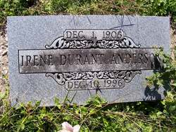 Irene <i>Durant</i> Anderson