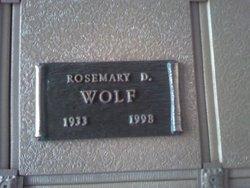 Rosemary D. <i>Davis</i> Wolf