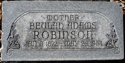 Beulah <i>Adams</i> Robinson