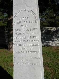 Mary <i>Smith</i> Donelson Sanders