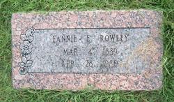 Fannie E. <i>Steed</i> Rowley