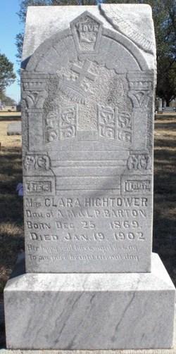 Clara L Clell <i>Barton</i> Hightower