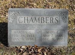 Mary E. <i>Curl</i> Chambers