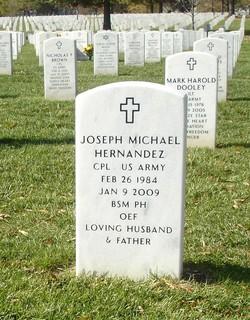 Corp Joseph Michael Hernandez