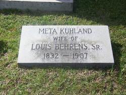 Meta <i>Kuhland</i> Behrens