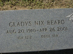 Gladys <i>Nix</i> Beard