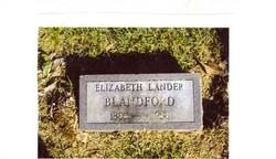 Elizabeth <i>Lander</i> Blandford