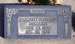 Margaret Dunn Maggie <i>Morrison</i> Singleton