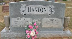 Alice Vera <i>Weatherford</i> Haston