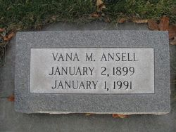 Vana Marie <i>Wheat</i> Ansell