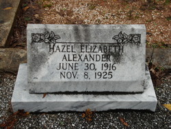 Hazel Elizabeth Alexander