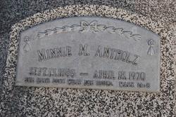 Minnie Marie <i>Dirks</i> Antholz