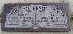 Sarah J. <i>Williams</i> Anderson