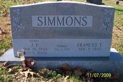 Frances F. <i>Tinsley</i> Simmons