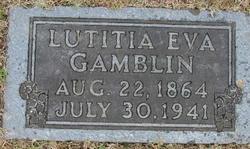 Lutitia Evaline <i>Putman</i> Gamblin