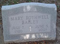 Mary Sullivan <i>Rothwell</i> Bailey