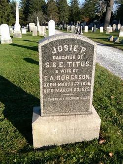 Josie P <i>Titus</i> Roberson