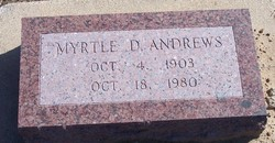 Myrtle D. <i>Buxton</i> Andrews