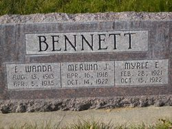 Myrle E Bennett