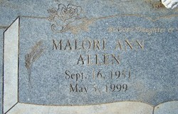 Malori Ann <i>Williams</i> Allen