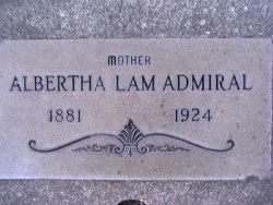 Albertha <i>Lam</i> Admiral