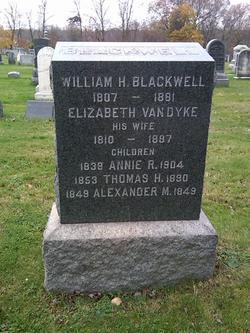 Elizabeth <i>Van Dyke</i> Blackwell