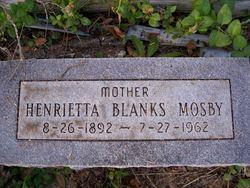 Henrietta <i>Blanks</i> Mosby