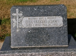 Etta <i>Baker</i> Adams
