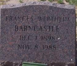 Francisa Pancha <i>Wertheim</i> Barncastle