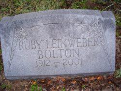 Ruby L <i>Leinweber</i> Bolton
