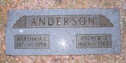 Martha Agnieta Louisa <i>Jenson</i> Anderson