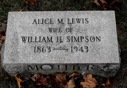 Alice M <i>Lewis</i> Simpson