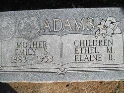 Emily Susan <i>Warner</i> Adams