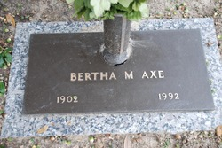 Bertha May <i>Evans</i> Axe