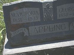 Martha Victoria <i>Gregory</i> Appling