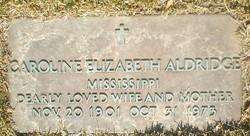 Caroline Elizabeth Aldridge
