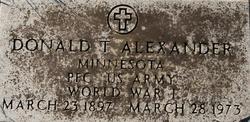 Donald T Alexander