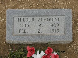 Hildur (Hilda) Josephine Almquist