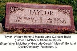 Matilda Jane <i>Certain</i> Taylor
