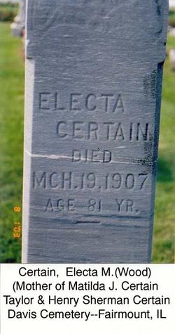Electa M <i>Wood</i> Certain