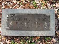 Mollie <i>Paul</i> Hinton
