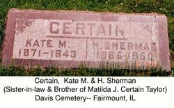 Henry Sherman Certain