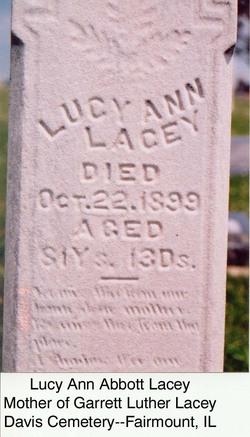 Lucy Ann <i>Abbott</i> Lacey