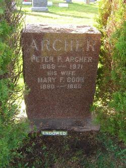 Mary F. <i>Cook</i> Archer