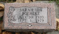 Sarah Ida <i>Dodd</i> Boehlke