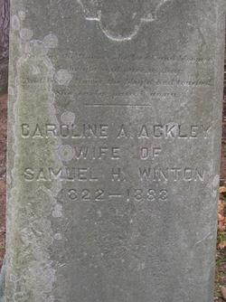 Caroline Amelia <i>Ackley</i> Winton